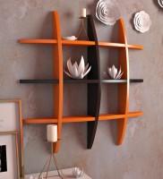 Artesia Wooden Wall Shelf(Number of Shelves - 1, Brown, Orange)