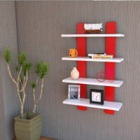 Decor India Craft ladder shape wall shelf red & white MDF Wall Shelf(Number of Shelves - 4, Red, White) best price on Flipkart @ Rs. 1700