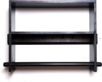 Kohinoor Wooden Wall Shelf(Number of Shelves - 2, Brown)