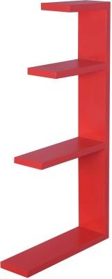 Dcjc Dcjc Hanger Shelf Red MDF Wall Shelf