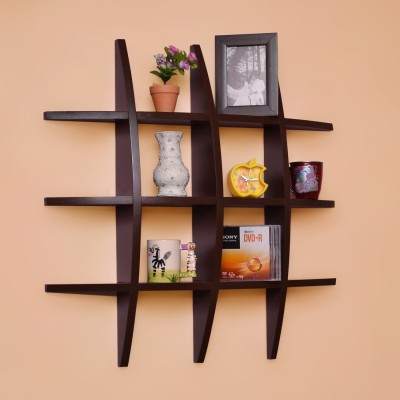 JaipurCrafts Royal Rajasthani Rajwada Designer Wooden Wall Shelf