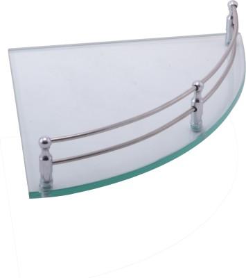 Klaxon Glass, Brass Wall Shelf