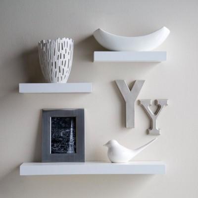 DecorNation Floating Wooden Wall Shelf