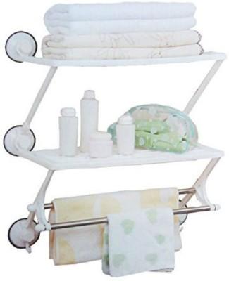 Shrih Bath Rack Plastic, Stainless Steel Wall Shelf