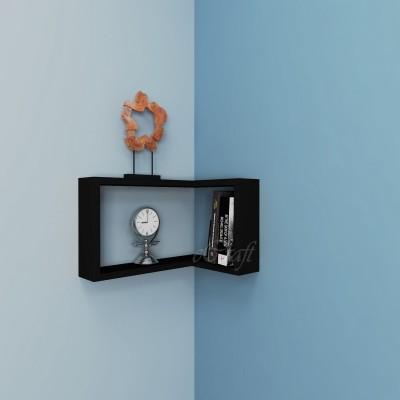 eCraftIndia Multiutility Corner Book Wooden Wall Shelf