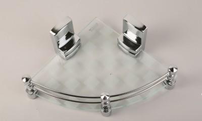 royaL indian Craft 10 Inch White Pattern Glass Wall Shelf