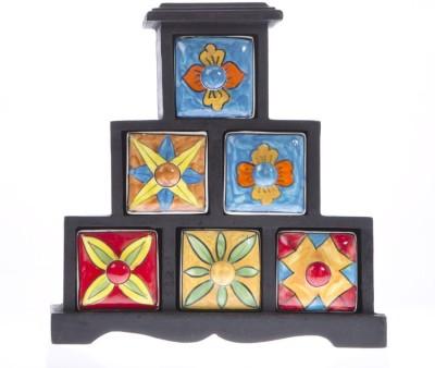 Fashion Craft Wooden, Ceramic Wall Shelf