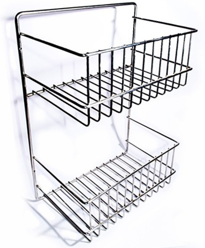 SGB Keep Dry Stainless Steel Wall Shelf(Number of Shelves - 2, Steel)