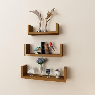 Arsalan Design Yourself Brownish Wooden Wall Shelf