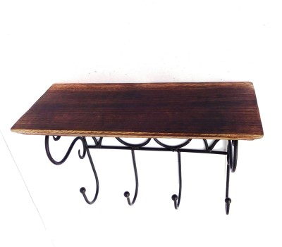 Woodpedlar Single Wooden, Iron Wall Shelf