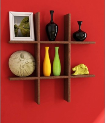 Onlineshoppee Beautiful Wooden Fancy Wall Decor Rack Shelves Size (LxBxH-15x4x15) Inch Wooden Wall Shelf