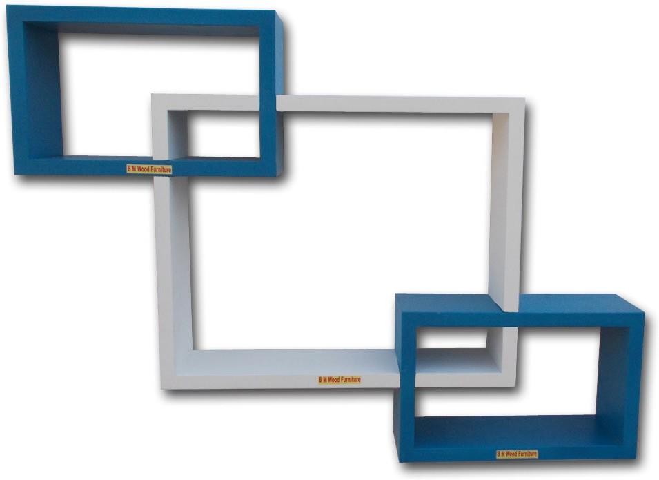 View BM WOOD FURNITURE ENTERSETTING SHEP Wooden Wall Shelf(Number of Shelves - 3, Multicolor) Furniture (BM WOOD FURNITURE)