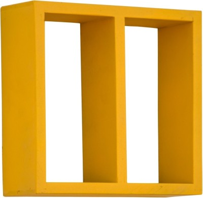 Furniselan Yellow MDF Wall Shelf