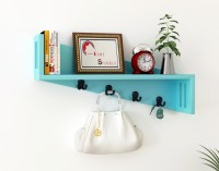 Home Sparkle Multipurpose Wooden Wall Shelf(Number of Shelves - 1, Blue)