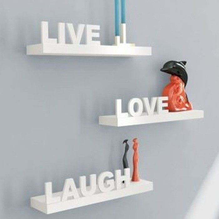 View Onlieshoppee Wooden Wall Shelf(Number of Shelves - 3, White) Price Online(Onlieshoppee)
