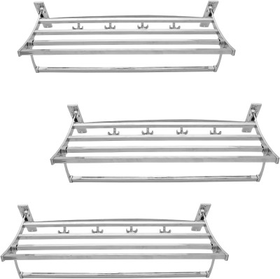 Dolphy Set Of 3 Stainless Steel Wall Shelf