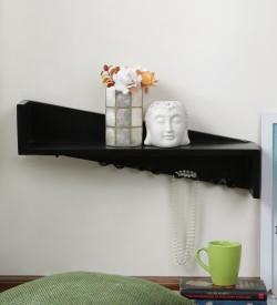 Onlineshoppee MDF Wall Shelf(Number of Shelves - 1, Black)