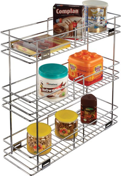 View Leaves Stainless Steel Wall Shelf(Number of Shelves - 3) Price Online(Leaves)