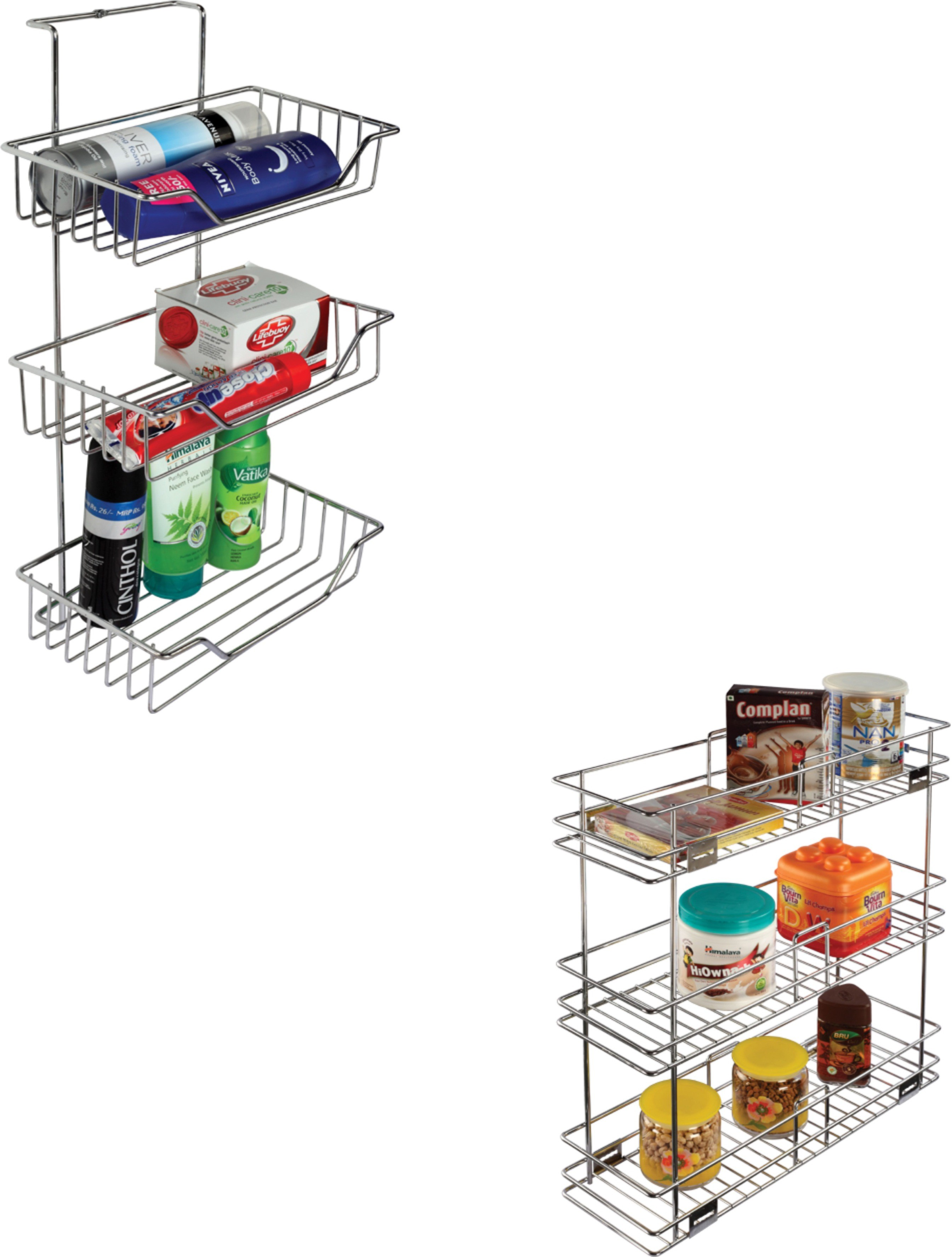 Leaves Bathroom Rack And Kitchen Rack Combo Stainless Steel Wall Shelf Stainless Steel Wall Shelf