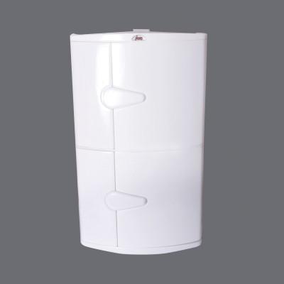 Hallmarc Bathroom Corner cabinet Plastic Wall Shelf