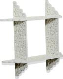 Importwala Cutwork wall shelf- white Woo...