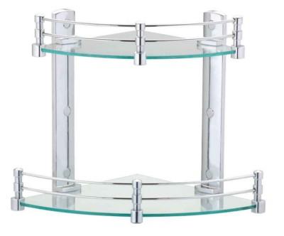 royaL indian craft Multipurpose Toughened Glass Corner Glass Wall Shelf