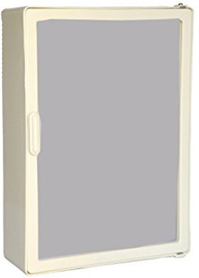 Zoom Zoom Good Morning Bathroom Mirror Cabinet Plastic Mirror Storage Chest (40.64 x 10.6 x 30.48, White, Ivory, Z104CB) (IVORY) Plastic Wall Shelf(Number of Shelves - 1, Green)