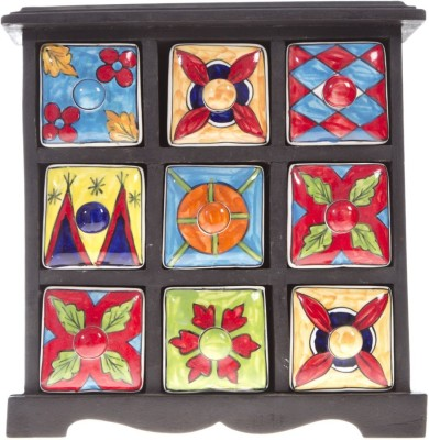 Fashion Craft rajasthani art Spices Wooden Wall Shelf