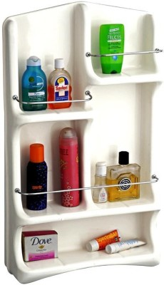 BathDeal Ubon Bathroom Cabinet Plastic Wall Shelf