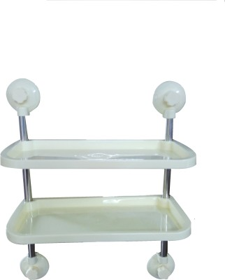 Riddhi Siddhi Plastic Wall Shelf(Number of Shelves - 4, White)