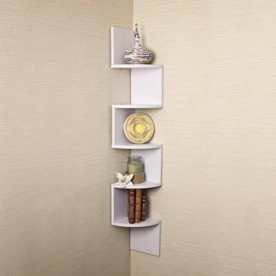 hardika furniture corner zig zag MDF Wall Shelf