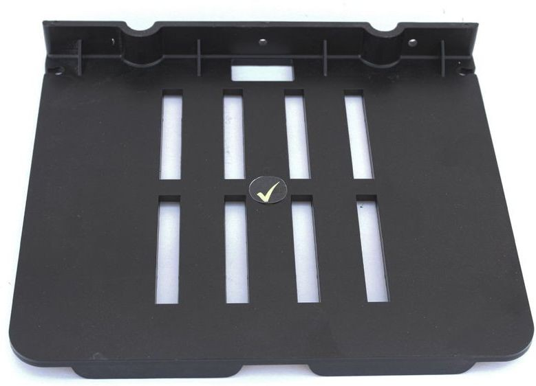 View Aqua Fit Aquasoft prime series Set top box stand (Unbreakable) Acrylic Wall Shelf(Number of Shelves - 1, Black) Furniture (Aquafit)