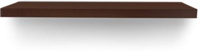 CP DECOR Floating Medium Brown Wooden Wall Shelf