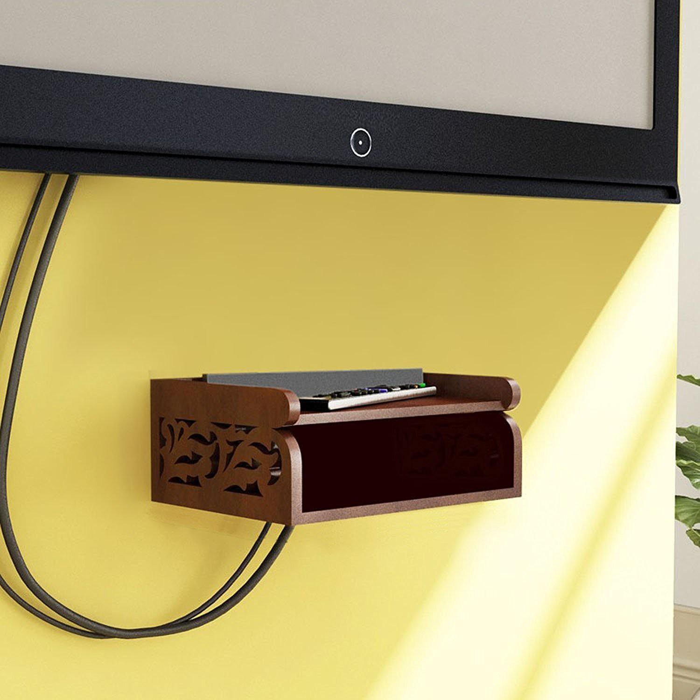 View Fabulo MDF Wall Shelf(Number of Shelves - 2, Brown) Furniture (Fabulo)