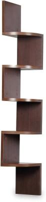 hardika furniture corner zigzag MDF Wall Shelf