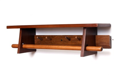 Kohinoor Wooden Wall Shelf(Number of Shelves - 1, Brown)
