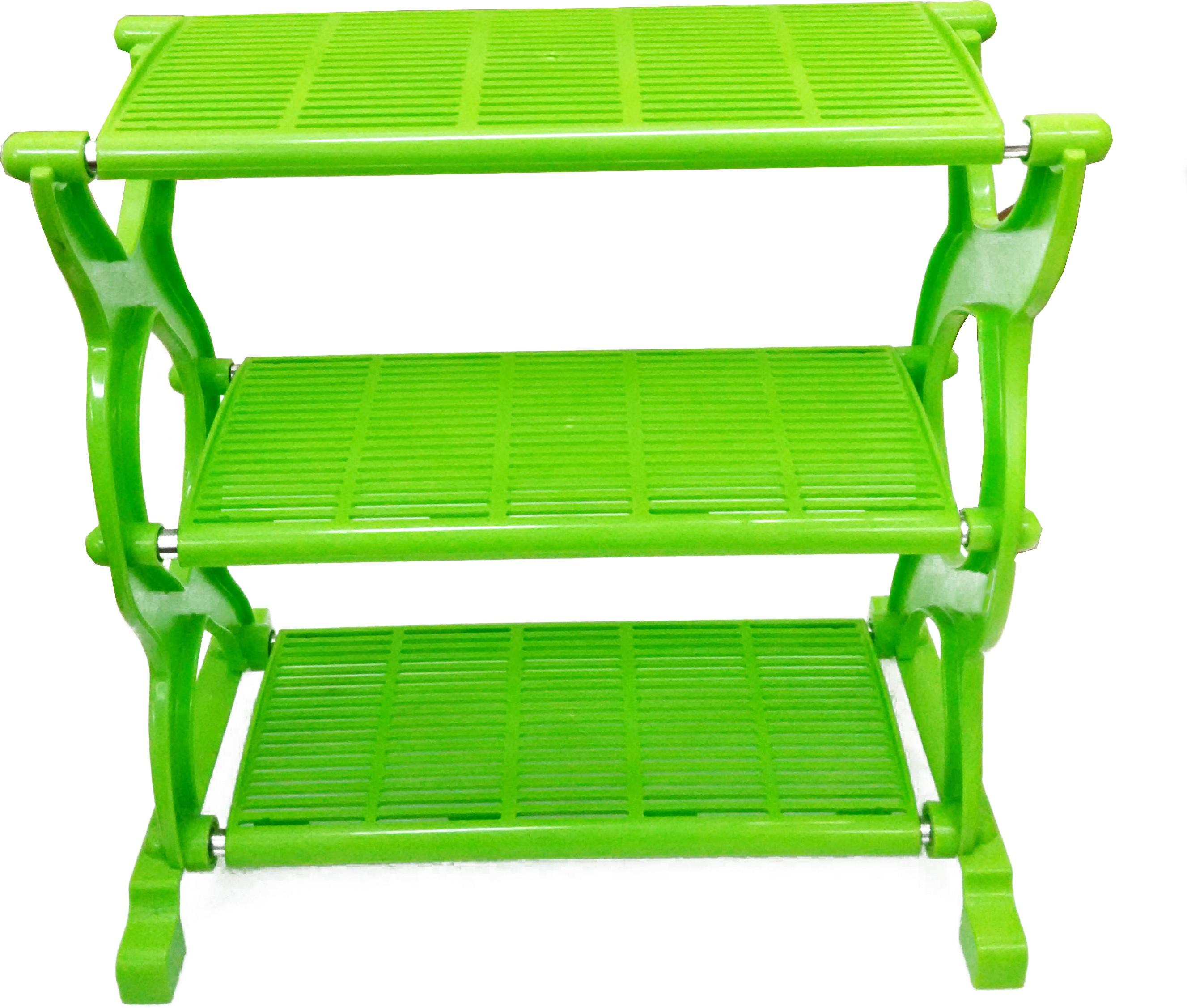 View Cierie Plastic Wall Shelf(Number of Shelves - 3, Green) Furniture (Cierie)