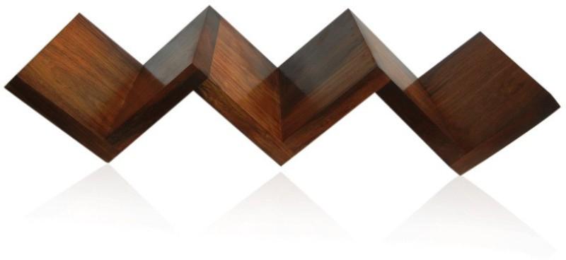 Zuniq Wooden(Sheesham) Wall Mount Bookshelf Wooden Wall Shelf(Number of Shelves - 3, Brown)