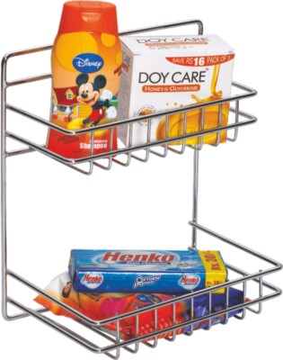 Leaves Detergent Rack & Perfume Combo Stainless Steel Wall Shelf Stainless Steel Wall Shelf