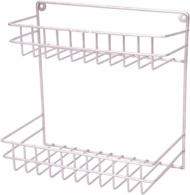Zecado Large Multipurpose Rack Stainless Steel Wall Shelf(Number of Shelves - 2, Silver)