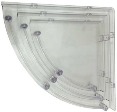 RIPPLES Acrylic Wall Shelf(Number of Shelves - 3)