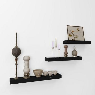 eCraftIndia Set of 3 Modern Design Floating Wooden Wall Shelf