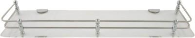 Dolphy Acrylic Clear Shelf -18X5 Inch Stainless Steel Wall Shelf