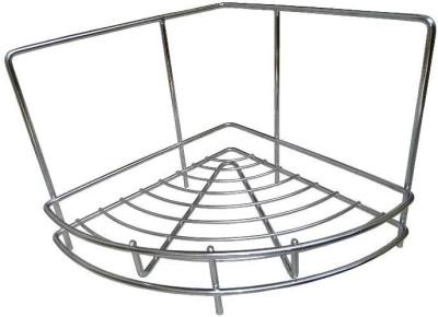 Innovative Diamond Single Corner Stainless Steel Wall Shelf