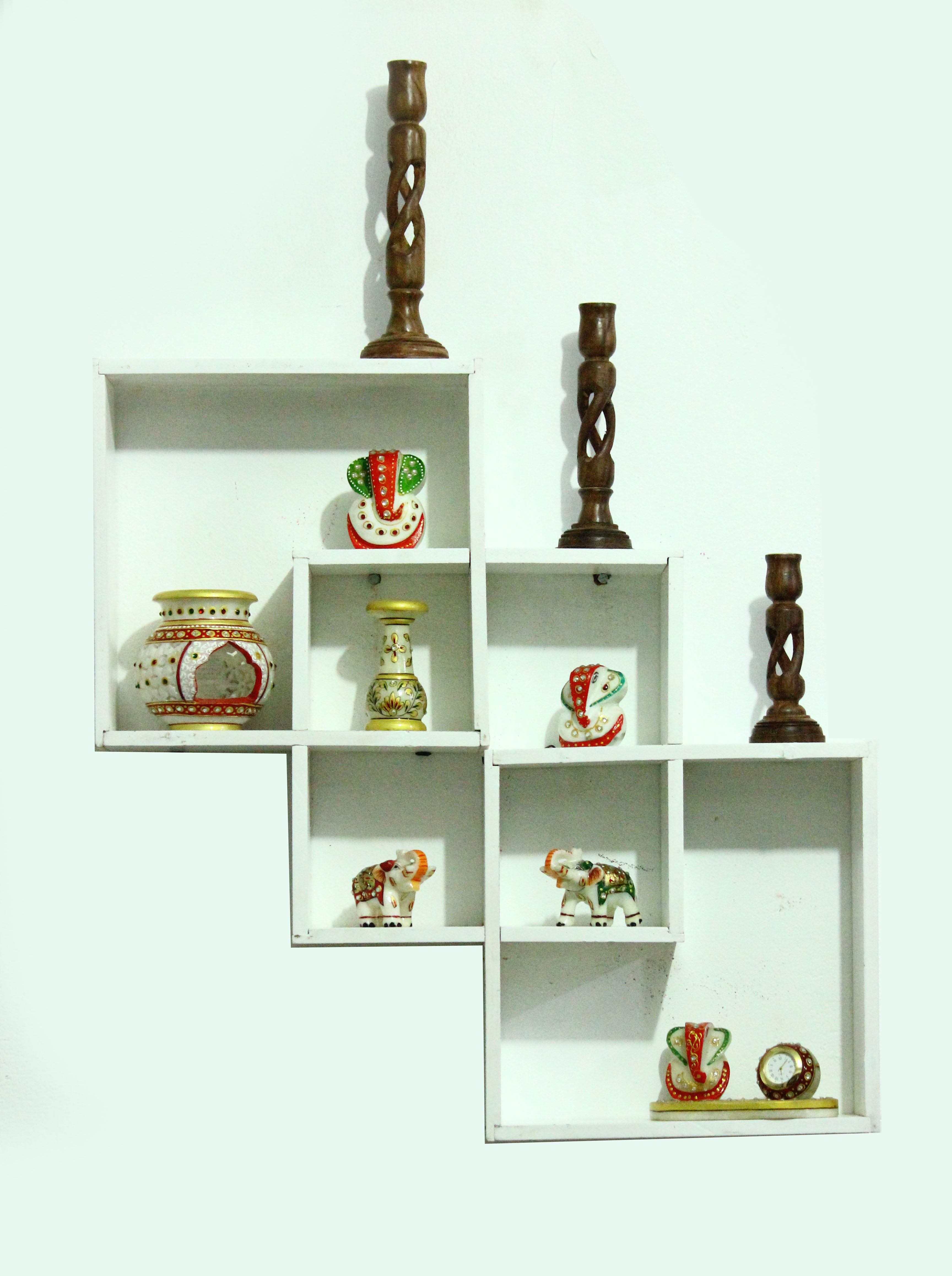 View Aakashi MDF Wall Shelf(Number of Shelves - 3) Furniture (Aakashi)