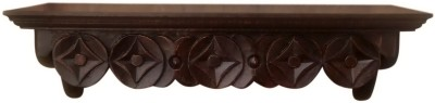 Decorhand Wooden Wall Shelf(Number of Shelves - 1, Brown)
