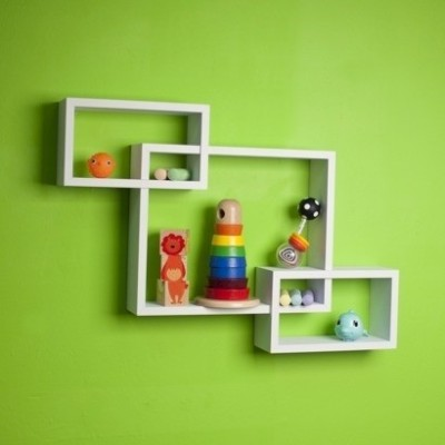 DecorNation Intersecting Wooden Wall Shelf