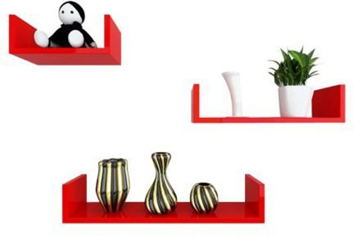 View Craftpoint Wooden Wall Shelf(Number of Shelves - 3) Furniture (Craftpoint)