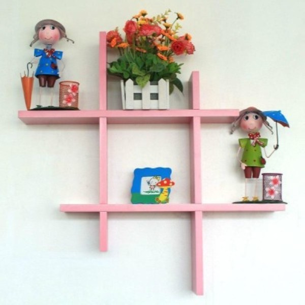 View skwoo MDF Wall Shelf(Number of Shelves - 1, Pink) Furniture (skwoo)