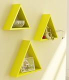 Home Sparkle 3 Triangular Shelves Wooden...